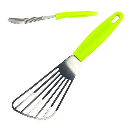 Лопатка рыбная с пластик.ручкой L25см ручка 12см ширина 6см, фото 2