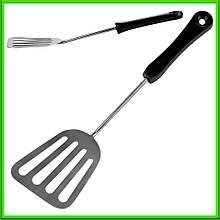 Лопатка кухонні з карболитовой ручкою L27,5см ручка 19см ширина 7см