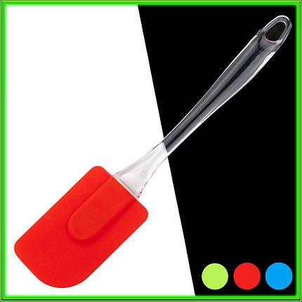 Лопатка силиконовая кухонная L24,5см ручка 16,5см ширина 5см, фото 2