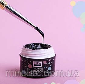 Гель-краска черная Kira  без липкого слоя 5мл