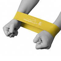 Фітнес резинка PowerPlay 4114 Light Жовта SKL24-143786 (143786)