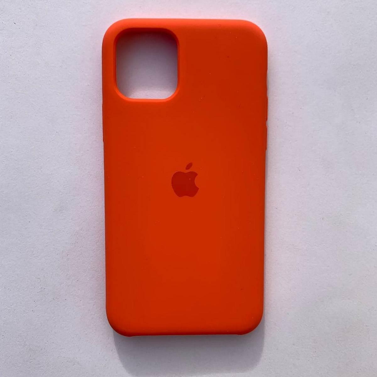 Накладка Silicone Case для Apple iPhone 11 Orange