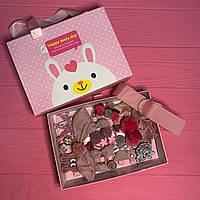 Набор детских резинок и заколок для волос из 25 предметов в подарочной коробке SKL11-277642
