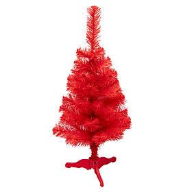 Ялинка штучна новорічна 80 см, ПВХ, червона густа, ніжка пластик, в коробці (МАГ-80/2)