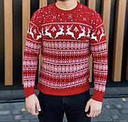 Тёплый молодёжный свитер с оленями  М-2XL большой ассортимент,разные цвета и орнаменты, фото 3
