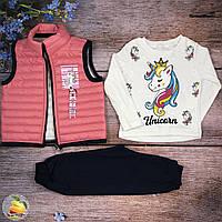 Детский костюм с жилеткой Размеры: 92,98,104 см (01136-2)