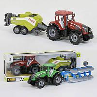 Трактор с прицепом 0488-304 /0488-308 (36/2) инерция, 2 вида, в коробке