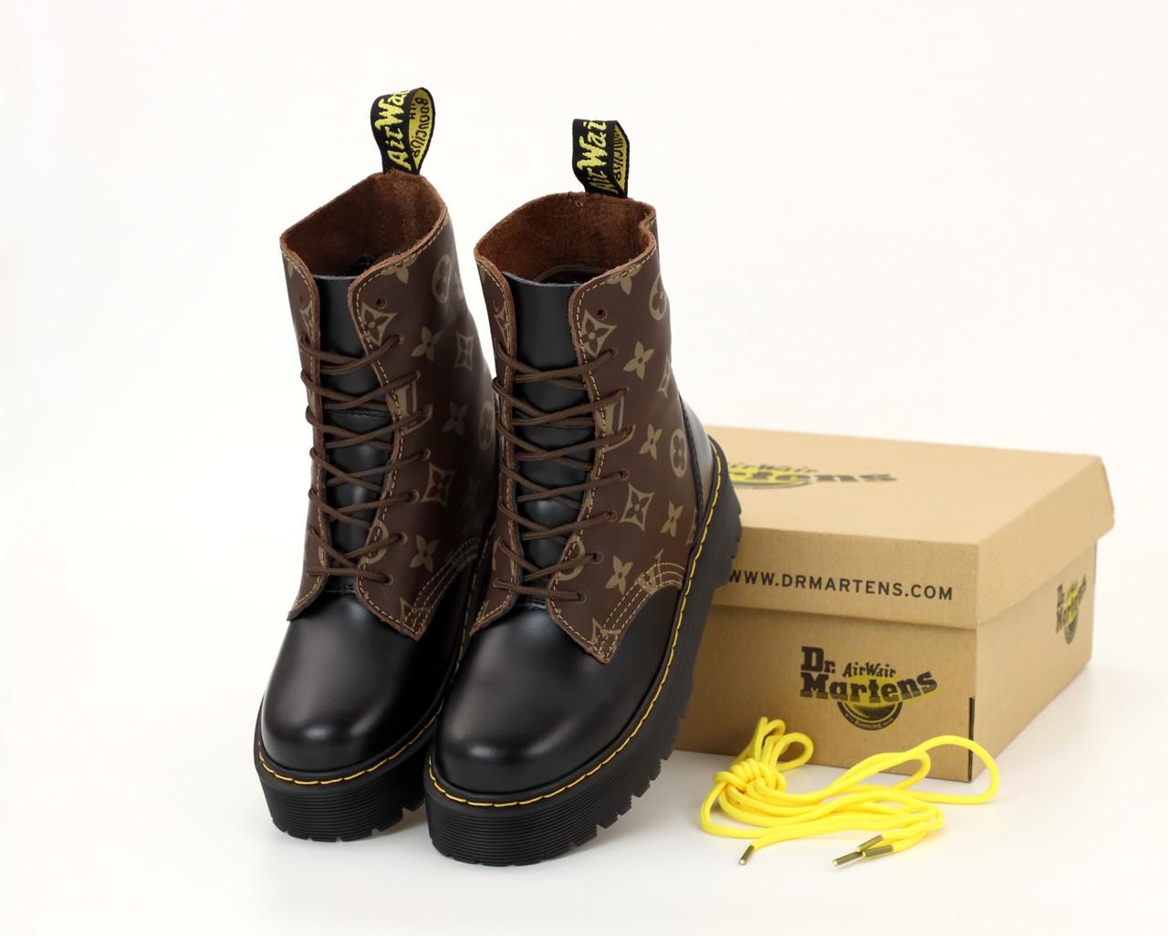 Демисезонные женские ботинки LV & Dr. Martens. ТОП Реплика ААА класса.