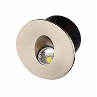Светильник лестничный LED 3w Horoz YAKUT светодиодный матовый хром круг