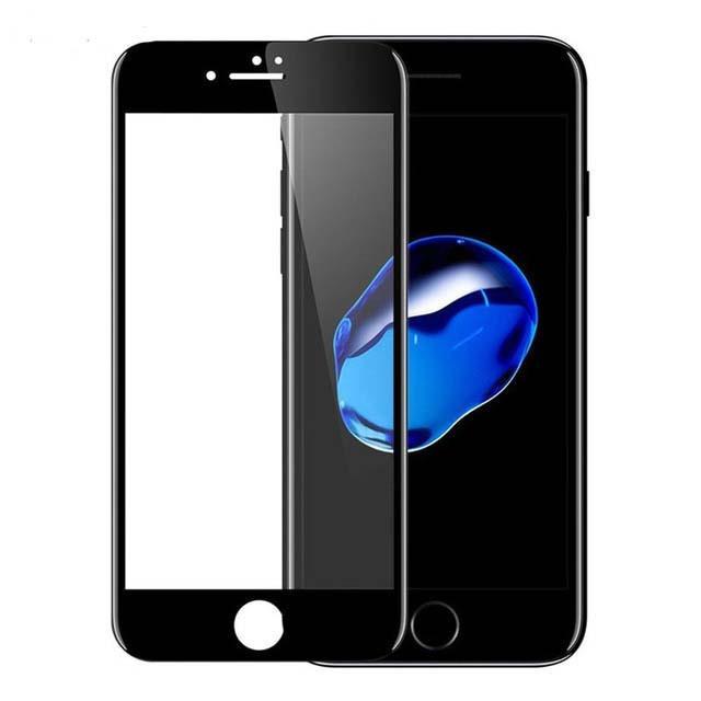Защитное стекло Walker 5D Full Glue для Apple iPhone 7 / 8 Черный (hub_WqNd74319)