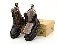 Зимові жіночі черевики LV & Dr. Martens. ТОП Репліка ААА класу., фото 2