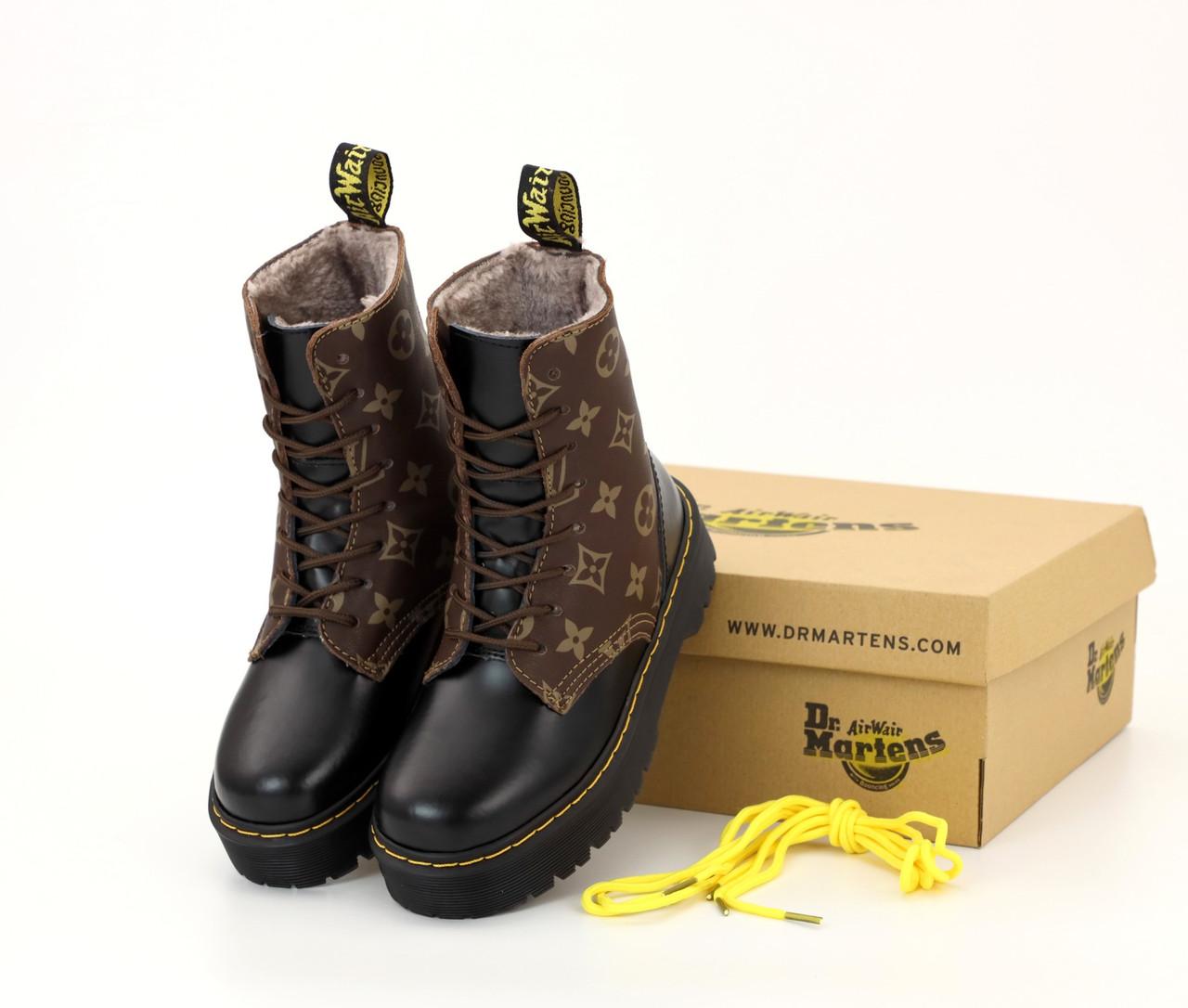 Зимние женские ботинки LV & Dr. Martens. ТОП Реплика ААА класса.