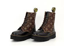 Зимние женские ботинки LV & Dr. Martens. ТОП Реплика ААА класса., фото 2
