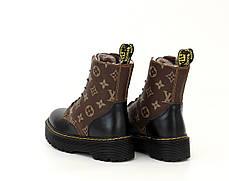 Зимние женские ботинки LV & Dr. Martens. ТОП Реплика ААА класса., фото 3