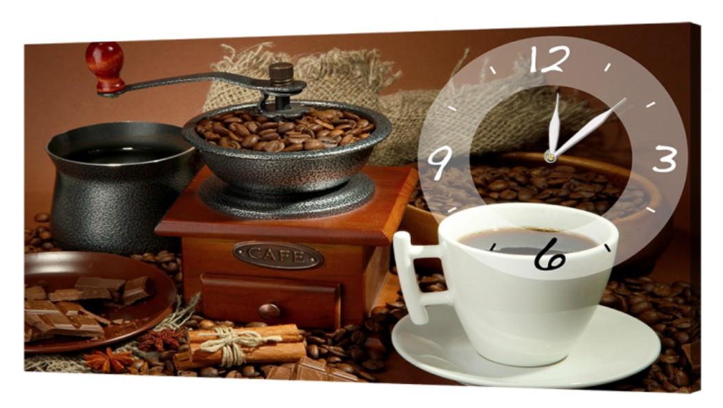 Настенные часы DK Store на холсте Кофе 30x53 см (O-736_S)