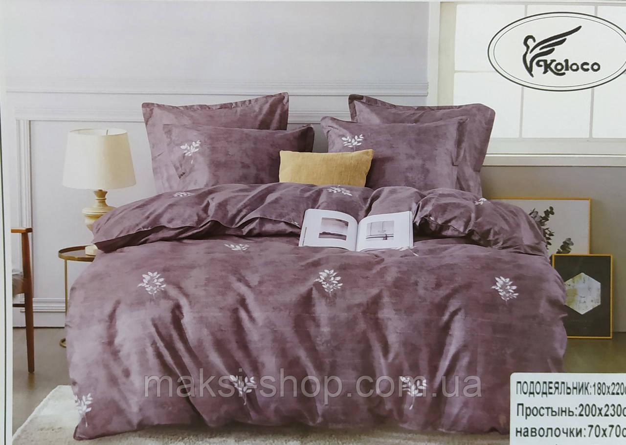 Комплект полуторного постельного белья сатин-хлопок Koloco Турция