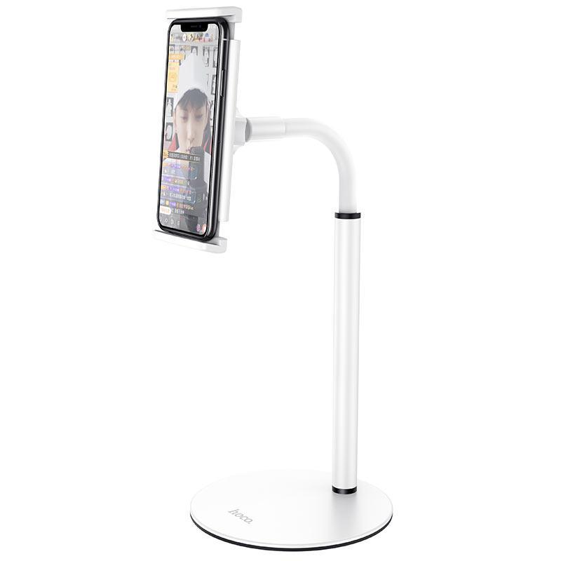 Настольный держатель для планшета и телефона (4.7-10) Hoco PH30 White
