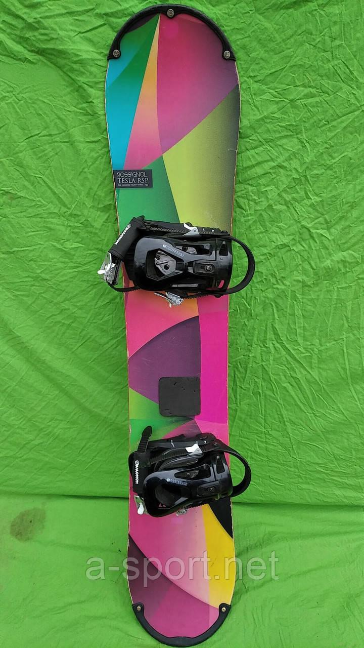 Сноуборд бу Rossignol Tesla 143 см + кріплення salomon