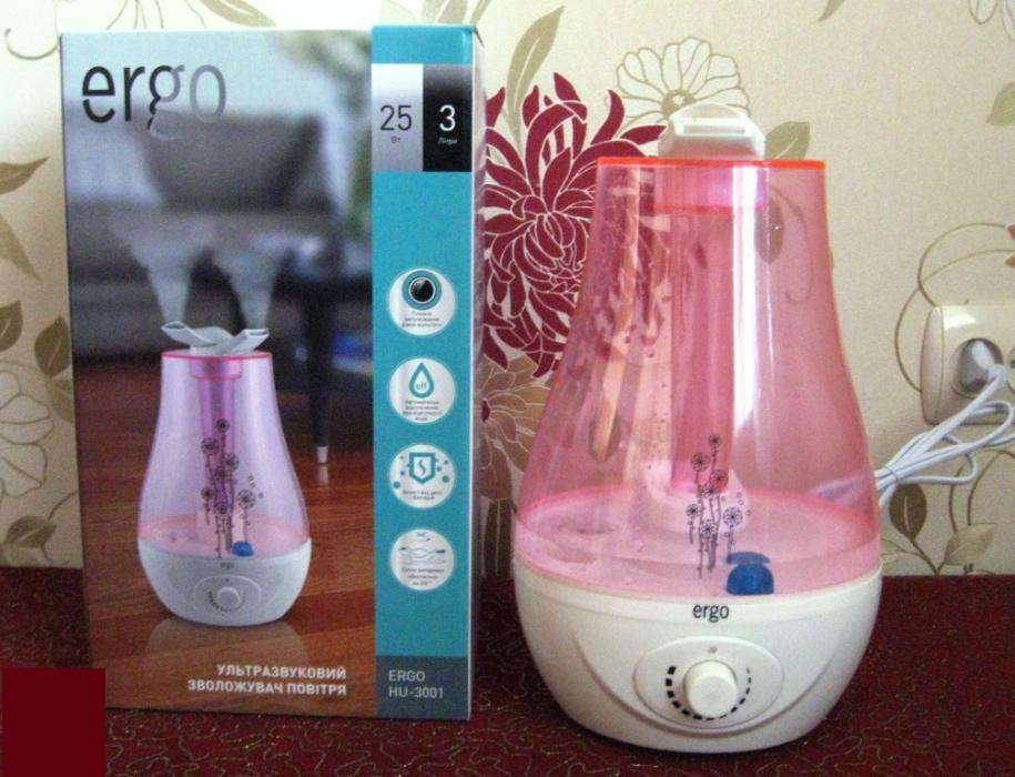 """Увлажнитель воздуха ультразвуковой """"Ergo"""". Защита от бактерий и плесени. Гарантия - 1 год."""