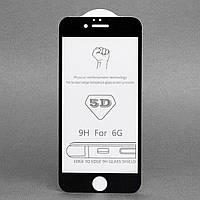Защитное стекло 5D Full Cover для iPhone 6 / 6S цвет Черный, фото 1