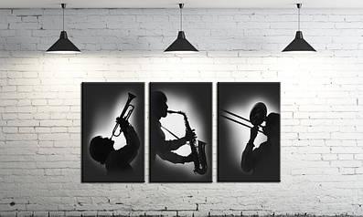 Модульная картина на холсте DK Store из трех частей Джаз (SM3-574_61)