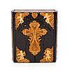 Библия (иконостас-складень)  кожаная с отделкой дерево., фото 7