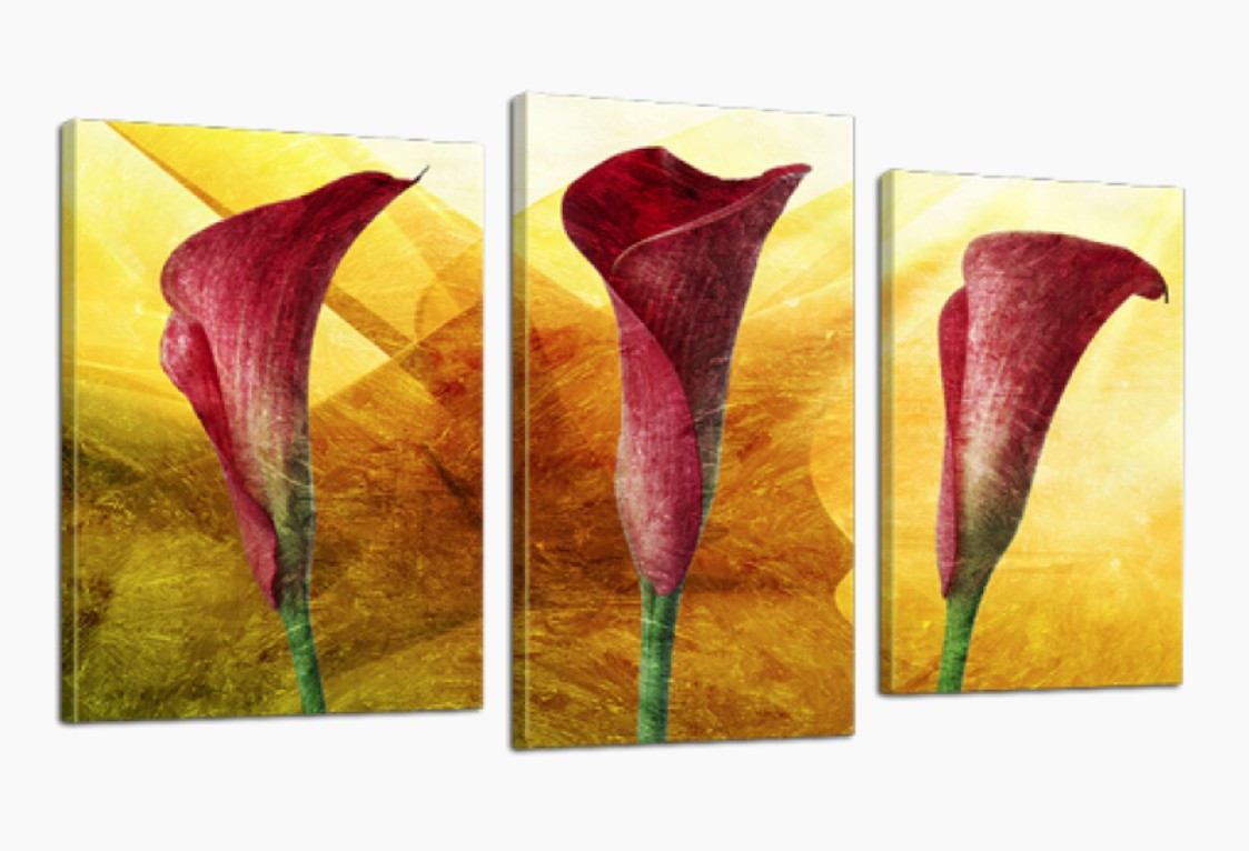 Модульна картина DK Store Квіти 70x110 см (537_3)