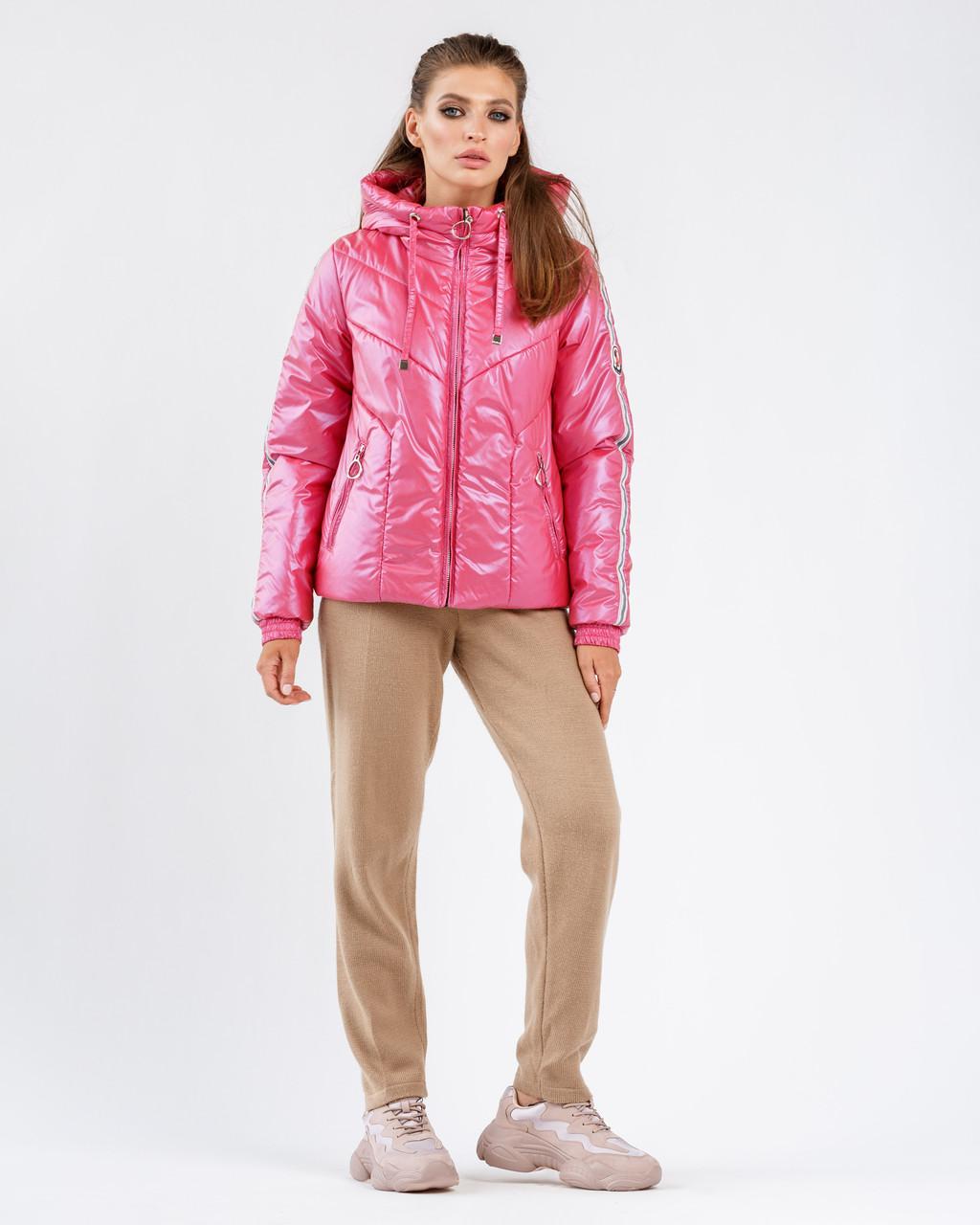 Модная куртка перламутр 42-54  Весна 2020