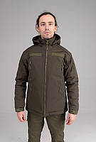 Зимняя куртка Softshell оливковая