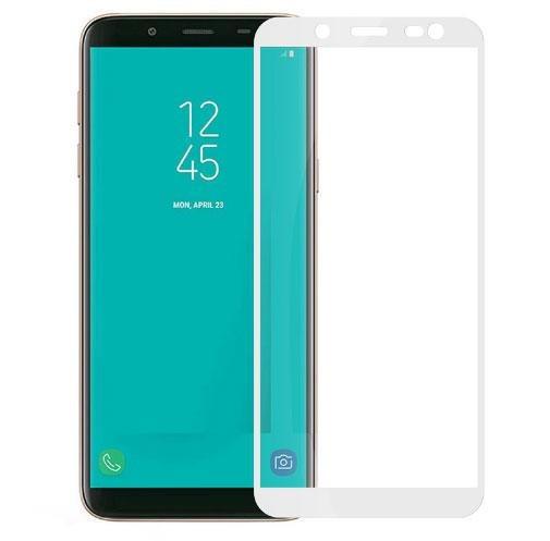 Захисне скло Walker Full Glue для Samsung Galaxy J6 J600 2018 Білий (hub_NNce51046)