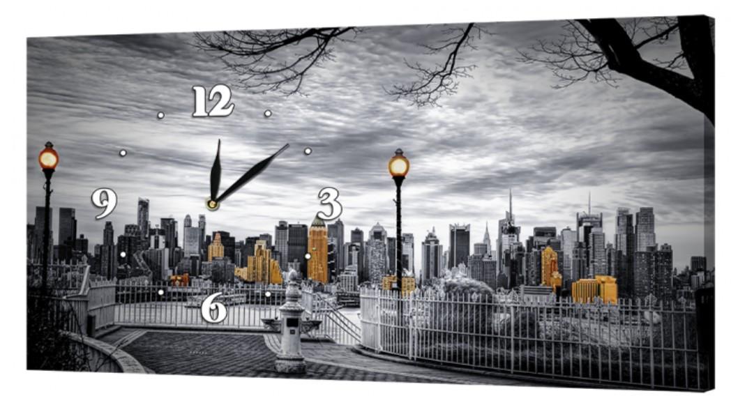 Настенные часы DK Store на холсте Город 30x53 см (05_S)