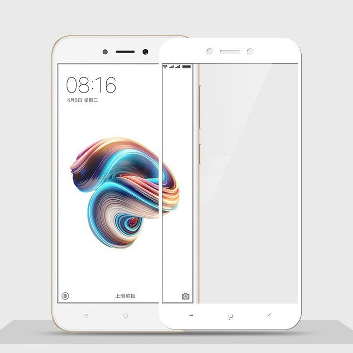 Защитное стекло Walker Full Glue для Xiaomi Redmi 5A Белый (hub_pFZu97970)