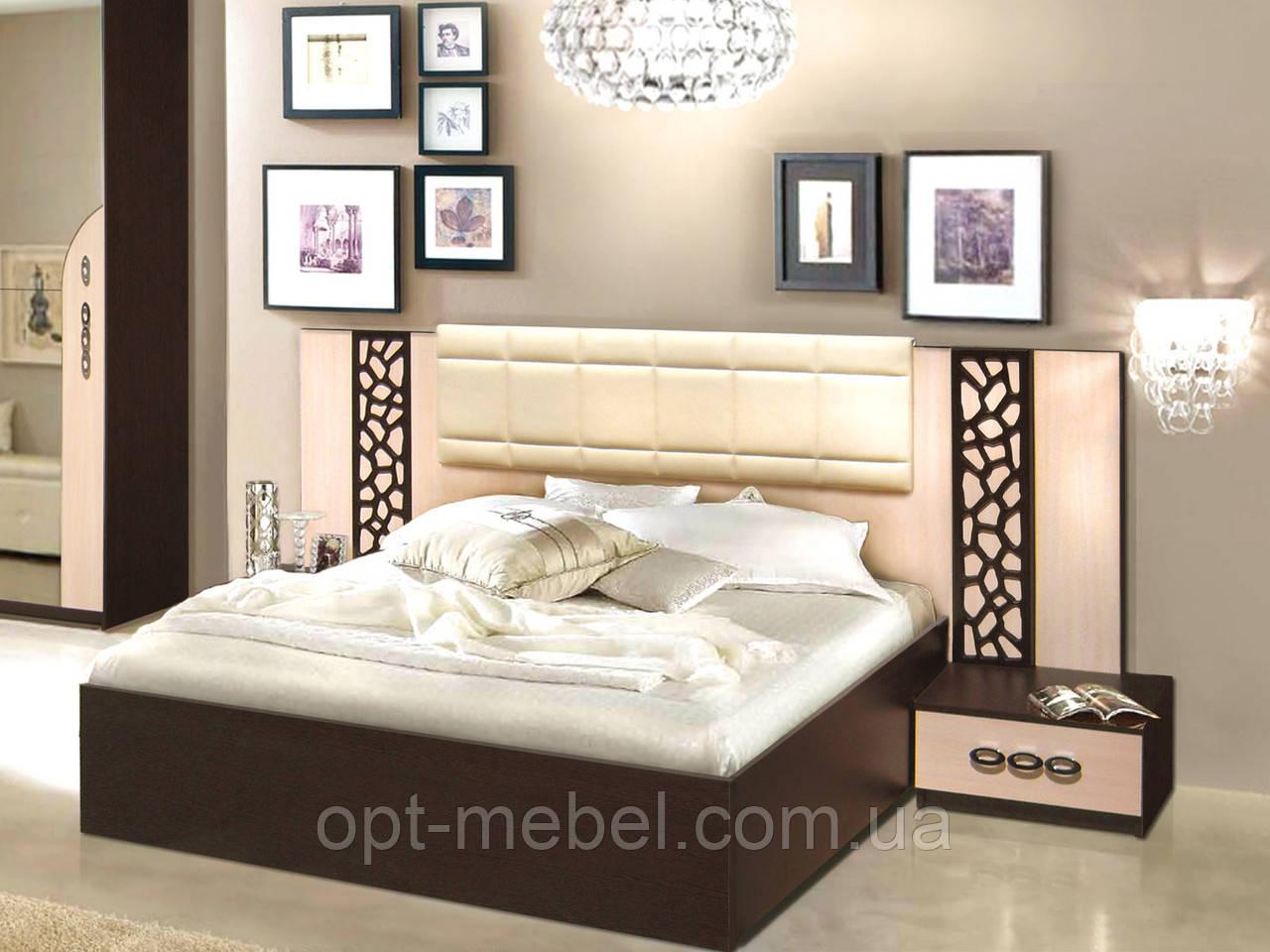 Кровать Селеста 1600 с тумбочками ( Мастер Форм )
