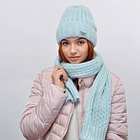 Комплект Nord 5554 шапка+шарф (альпака) голубой