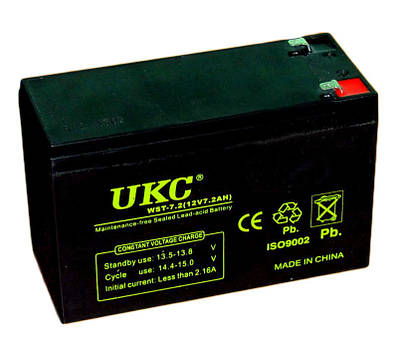 Аккумуляторная батарея UKC 12V 7.2Ah WST-7.2 RC201502 (003606)
