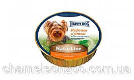 Консерва для собак Happy Dog NaturLine Курица и Утка 85 грамм