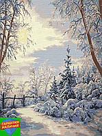 Картина по номерам Зимний пейзаж Новогоднее настроение +Лак 40*50см Барви Живопись по цифрам