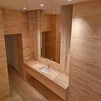 Столешница подвесная из травертин для ванной комнаты: фото, цена., фото 1