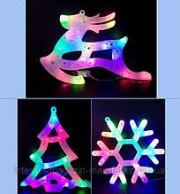 Цветные фигурки на ёлку/ олень, елка, снежинка