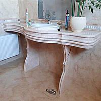 Пристенный стол для ванной комнаты: фото, заказать.