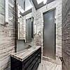Для ванной комнаты столешница, камень индийский мрамор NERO ZEBRANO: цена реализации.