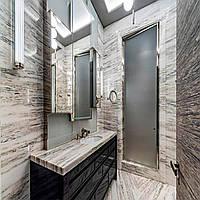 Для ванной комнаты столешница, камень индийский мрамор NERO ZEBRANO: цена реализации., фото 1