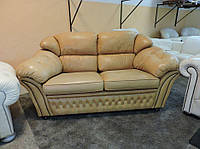 Шкіряний диван , кожаный диван двойка , честерфилд , тройка , гарнитур