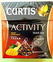 Чай Curtis Activity (имбирь-грейпфрут) 18 пирамидок черный, фото 1