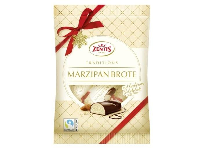 Марципан в шоколаде Zentis Marzipan Brote Traditions 200 г Германия