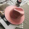 Капелюх фетровий WildJazz Федора з стійкими полями і металевим декором рожева