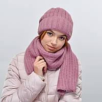 Комплект Nord 5554 шапка+шарф (альпака) пыльная роза