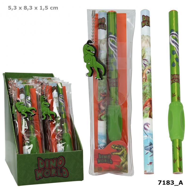 DINO WORLD набір із 2 олівців від TOP Model  ( Карандаши от ТОП Модел для мальчика Мир Динозавров 7158_А )