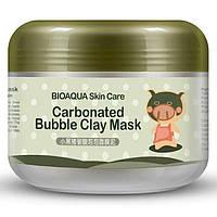 Коллагеновая питательная маска от BIOAQUA Kawaii , черная свинка газированная пузырчатая