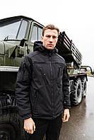 Зимняя куртка Софтшелл черная